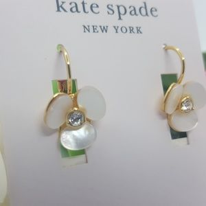 kate spade Jewelry - Kate Spade disco pansy flower earrings